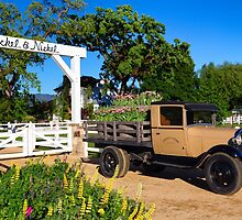 Winery and Old Ford Truck by George Oze