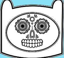Adventure Time - Finn Sugar Skull by talkdesigntome