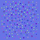 Blue Dotty Dots by Betty Mackey