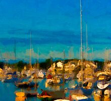 Harbor Lights by Michael  Petrizzo