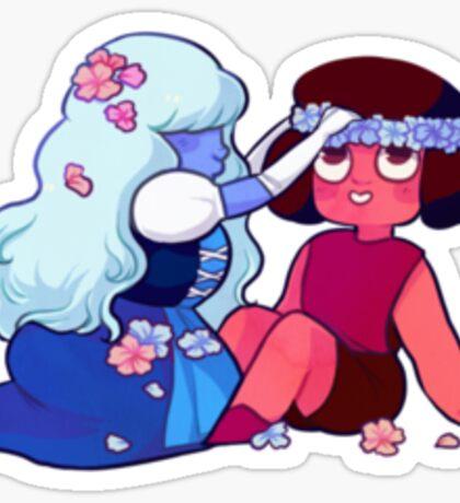 Sapphire and Ruby Sticker Sticker