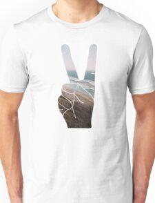 Peace Hand Beach Good Vibes Tumblr Vintage Love Instagram Print Unisex T-Shirt