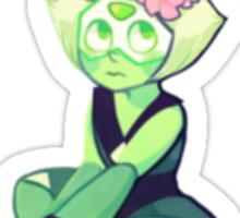 Flowery Peridot Sticker Sticker