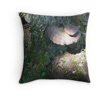 Piggy Back Fungi Throw Pillow