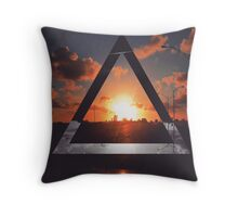 Triangle Sunset Throw Pillow