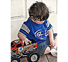 A Boy and his Truck!   Photographic Print