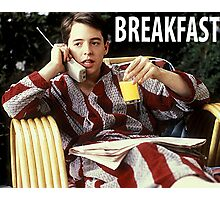The Bueller Breakfast Shirt Photographic Print