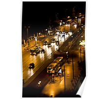 Athens By Night Poster