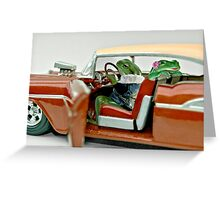 Cruising Froggies Greeting Card