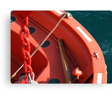Lifeboat Gunnel Canvas Print