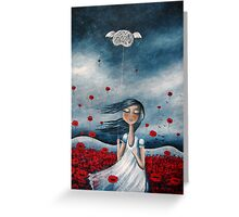 my mind may wander....but my heart stays in place Greeting Card