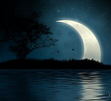 Shining Moon, Mystic Island by JordanPeterson