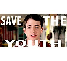 Save The Youth (Bueller) Shirt Photographic Print