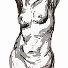 Standing Nude Study in Charcoal by MelodyMoss