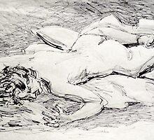 Faith laying on pillows by Johnathan Felton