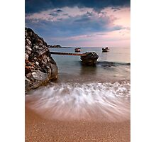 Two boats in Stoupa. Photographic Print