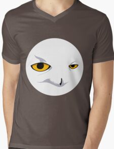 Snowy Owl Circle Mens V-Neck T-Shirt