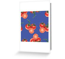 - Tomato pattern (blue) - Greeting Card