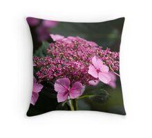 Lace-cap Hydrangea Throw Pillow