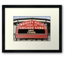Save Ferris Framed Print
