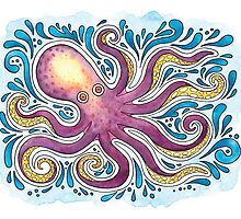 Purple Octopus by Breanna Cooke