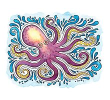 Purple Octopus Photographic Print