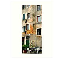 Venice - secret windows Art Print
