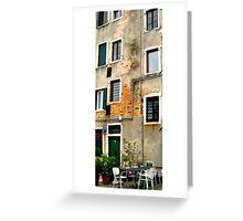 Venice - secret windows Greeting Card