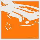 Datsun 240Z Detail - Orange on white by uncannydrive
