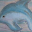 Dolphin and her baby by Sarah Russell