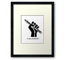 """I AM CHARLIE!""...French solidarity! Framed Print"