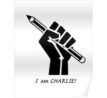 """I AM CHARLIE!""...French solidarity! Poster"