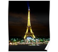 Eiffel by Night Poster