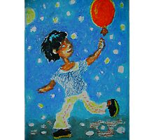 Boy with a balloon Photographic Print