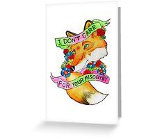 Feminist Fox v2 Greeting Card