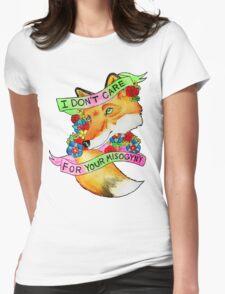 Feminist Fox v2 Womens Fitted T-Shirt