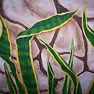 Bedroom Plant Mural by redqueenself