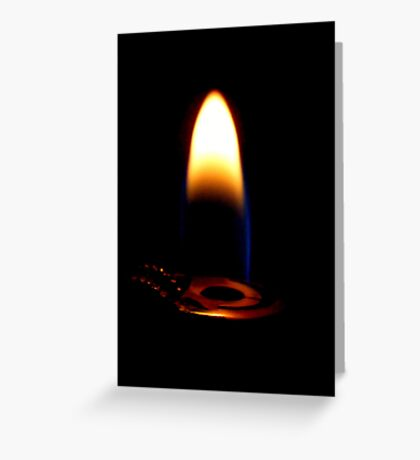 Flame. Greeting Card