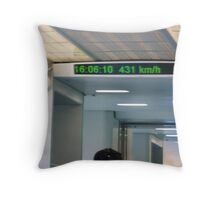 Maglev train top speed Throw Pillow