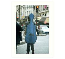 Musical street walker Art Print