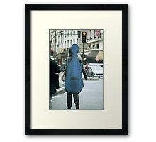 Musical street walker Framed Print