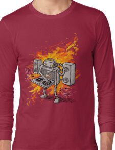 Robot DJ is in the House! Long Sleeve T-Shirt