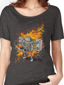 Robot DJ is in the House! Women's Relaxed Fit T-Shirt