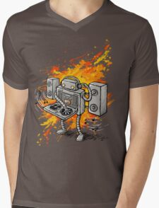 Robot DJ is in the House! Mens V-Neck T-Shirt