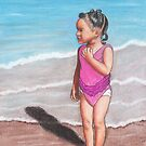 Girl at Beach by Paula Parker