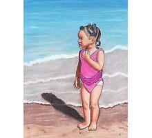 Girl at Beach Photographic Print