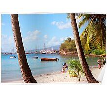 Martinique beach view Poster