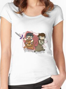 The Lion and The Llama Women's Fitted Scoop T-Shirt