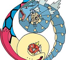 Aquatic Yin Yang - Gyarados & Milotic! by vaguelygenius
