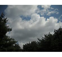 Feeling Me Softly With His Clouds Photographic Print
